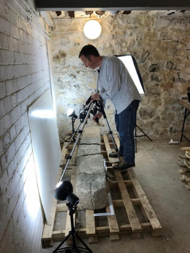 Tom conducting photogrammetry.